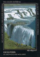 1 AK Island Iceland * Der Gullfoss - Gehört Zum Goldenen Ring - Golden Circle - Er Steht Seit 1979 Unter Naturschutz * - Iceland