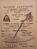1912 SAPEURS POMPIERS - SOCIETE LYONNAISE - EDIMBOURG - REGIMENT DE PARIS - SEINE - CAISSE GÉNÉRALES DE RETRAITES - Books, Magazines, Comics