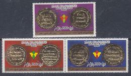 Libye N° 1481 / 83 XX  Monnaies D'ordes Pays Islamiques , Les 3 Valeurs  Détachées Sans Charnière, TB - Libyen