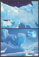 AUSTRALIE AAT 2009 2 MAXICARDS Pôles Et Glaciers - Maximumkarten