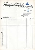 B4616 - Metzdorf Hohenfichte - Herbert Schwarz Parkettfabrik - Rechnung Quittung BLANKO - Allemagne