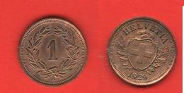 1 Rappen 1929 Svizzera Suisse Switzerland Schweiz - Suisse