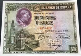 QUINIENTAS PESETAS ESPAÑA 1928 - Coins (pictures)