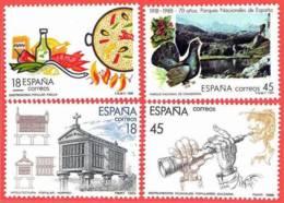 España. Spain. 1988. Turismo. Paella. Horreo. Covadonga. Dulzaina - 1931-Hoy: 2ª República - ... Juan Carlos I