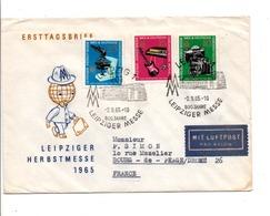 ALLEMAGNE RDA DDR FDC FOIRE DE LEIPZIG POUR LA FRANCE 1965 - FDC: Enveloppes