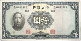 Chine - 10 Yuan - 1936 - PICK 218d - TTB - China