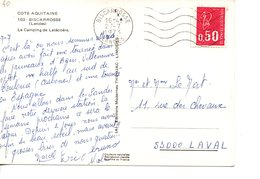 Sur CP, Cachet Postal BISCARROSSE  LANDES  1973 - Marcofilia (sobres)