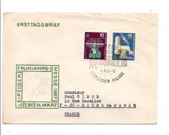 ALLEMAGNE RDA DDR FDC FOIRE DE LEIPZIG POUR LA FRANCE 1967 - FDC: Enveloppes