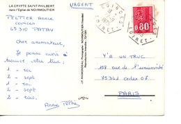 Sur CP, Cachet Postal Hexagonal COINCES  LOIRET  1975 - Marcofilia (sobres)