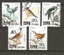 Corée Du Nord  1990 - Oiseaux -Série Complète° - 2169/73 - Corée Du Nord