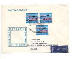 ALLEMAGNE RDA DDR FDC FOIRE DE LEIPZIG POUR LA FRANCE 1968 - FDC: Enveloppes