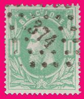 COB N° 30 - Belle Oblitération à Points - 374 (VERVIERS) - 1883 Léopold II