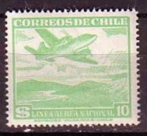F1172 - CHILI CHILE AERIENNE Yv N°148 * - Chile