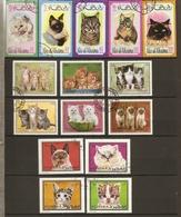 Emirats Ras-al-Kraima, Sharjah, Fujeira - Chats - Petit Lot De 15° - Briefmarken