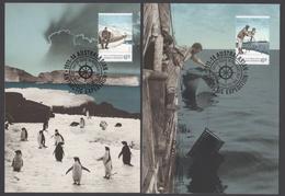 AUSTRALIE AAT 2014 5 MAXICARDS Australasian Antarctic Expedition 1914 Homeward Bound - Maximumkarten
