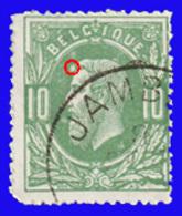 COB N° 30 - Oblitéré S.C. - JAMBES + Variété : Tache à Hauteur Du Front - 1883 Léopold II