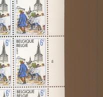 Belgique. Feuille Entière Marché Aux Bestiaux. Castle Market 1979. Plate Nr 3 - Full Sheets