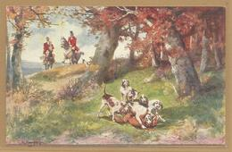 CHASSE - HUNTING -  Renard - Chasse A Cour - Signée - Chasse