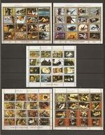 Ajman -  Petit Lot De 5 Mini-blocs De 16 Timbres° - JO - Peintures - Personnages Célèbres - Briefmarken