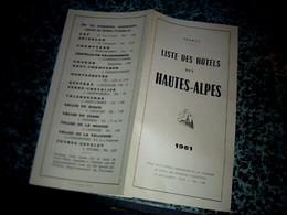 Dépliant Touristique Année 1961 Liste Des Hôtels Des Hautes Alpes - Barcos