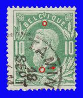 COB N° 30 - Oblitéré S.C. - TAMINES + Variété : Plusieurs Taches - 1883 Léopold II