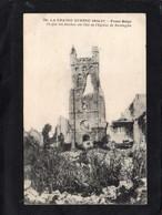 Reninghe (Belgique) - L'Eglise Bombardée Par Les Allemands CPA  Année 1917 Correspondance Millitaire - Lo-Reninge