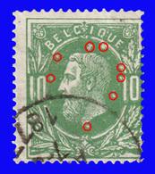 COB N° 30 -  Variété : Nombreuses Taches - 1883 Léopold II