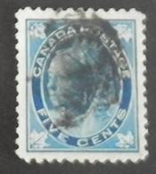 """CANADA YT 58 OBLITÉRÉ """"REINE VICTORIA"""" ANNÉES 1897/1898 - 1851-1902 Regering Van Victoria"""