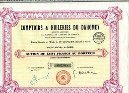 COMPTOIRS & HUILERIES Du DAHOMEY - Afrique