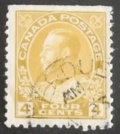 """CANADA  YT 112 OBLITÉRÉ """"GEORGE V"""" ANNÉES 1918/1925 - 1911-1935 Regering Van George V"""