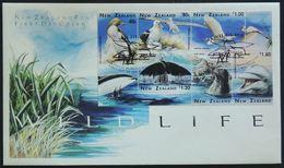 FDC - Manchot, Albatros, Grande Aigrette, échassier,héron, Oiseau, Cachalot, Otaries, Dauphin, Nouvelle-Zélande (Bird) - Arctic Tierwelt