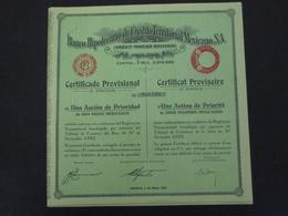 MEXIQUE - MEXICO 1932 - LOT DE 5 TITRES - BANCO HIPOTECARIO DE CREDITO TERRITORIAL - CERTIFICAT ACTION DE PRIORITE - Shareholdings