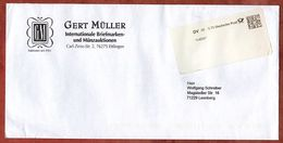 Infopost, Mueller Ettlingen, Label DV 08, 70 C, Deutsche Post, Datamatrix, Konsolidierer K4000 (94316) - BRD