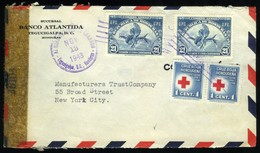 Honduras. Sc #C136, RA1. Censored Envelope Of Tegucigalpa. Orchid. - Honduras