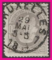 COB N° 35 - Belle Oblitération: BRUXELLES 7 - 1883 Léopold II