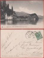 Lago Di Como. Villa Serbelloni Vista Dal Lago Di Lecco. Viaggiata 1907 - Italia