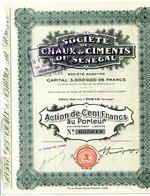 Société Des CHAUX & CIMENTS Du SÉNÉGAL - Afrique