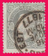 COB N° 35 - Oblitéré: BRUXELLES EST - 1883 Léopold II