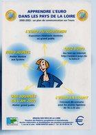 REF 501 : CPM Cart'com Nantes  Apprendre L'euro Dans Les Pays De La Loire - Coins (pictures)