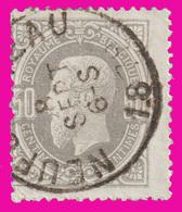 COB N° 35 - Belle Oblitération - NEUCHATEAU - 1883 Léopold II