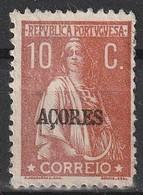Açores Portugal, 1912 - Ceres -|- Afinsa 158 - 10 C. - Azores