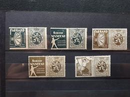 Timbres Belges : Publicité 1929 1931 COB N° PU 5, 6, 9, 12   NEUF * & - Publicités