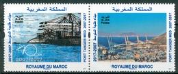 MOROCCO MAROC MOROKKO 2 TIMBRES PORT TANGER MED 2018 - Morocco (1956-...)