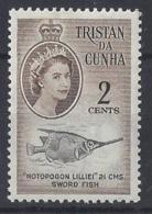 """TRISTAN DA CUNHA......QUEEN ELIZABETH II.(1952-NOW)..."""" 1961....""""...2c......SG45..WITH PRINTERS MARK, TOP RIGHT....MH... - Tristan Da Cunha"""