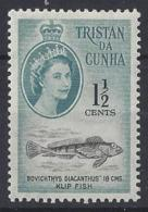 "TRISTAN DA CUNHA......QUEEN ELIZABETH II.(1952-NOW)..."" 1961....""...1 AND HALFc......SG44......MH... - Tristan Da Cunha"