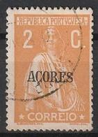 Açores Portugal, 1918 - Ceres -|- Afinsa 166 - 2 C. - Azores