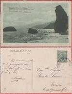 Marina Al Tramonto Con Poesia Di Giugliozzi. Viaggiata 1917 - Other