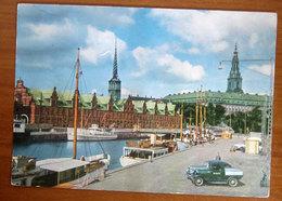 DANIMARCA Copenhagen  Borsen - Barche Ships Auto Cars Cartolina Non Viaggiata - Danimarca