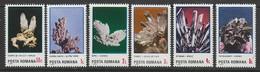 SERIE NEUVE DE ROUMANIE - FLEURS MINERALES N° Y&T 3627 A 3632 - Minerales