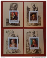 Chad Tchad 1978 - Paintings Durer Deluxe Imperf S/s Mi 831-834 MNH - Luxe Rare Art Master Portrets - Tschad (1960-...)